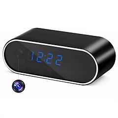 hqcam h.264 wifi pöytäkello mini ip kamera 720p hd ip p2p DVR videokamera hälytys asetettu yökuva kaukosäädin mikro-kamera 1 mp