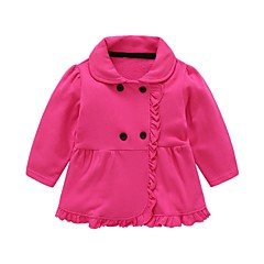Χαμηλού Κόστους Βρεφικά μπλουζάκια-Μωρό Κοριτσίστικα Μονόχρωμο Μακρυμάνικο Μπλούζα