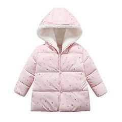 billige Overtøj til babyer-Baby Pige Ensfarvet / Trykt mønster Langærmet dun- og bomuldsforet