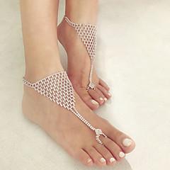 baratos Bijoux de Corps-Camadas tornozeleira - Na moda, Romântico, Fashion Branco Para Diário / Festa de Noite / Mulheres