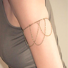 baratos Bijoux de Corps-Franjas / Retro Cadeia braço Criativo Simples, Borla, Fashion Mulheres Dourado / Prata Bijuteria de Corpo Para Bandagem / Bagels
