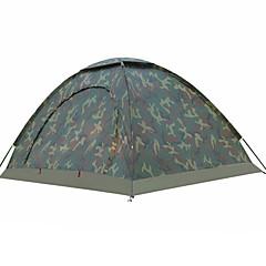 billige Telt og ly-2 personer Turtelt Med enkelt lag Stang camping Tent Utendørs Regn-sikker, UV-bestandig til Fisking / Strand / Camping / Vandring / Grotte Udforskning <1000 mm Nylon 200*150*110 cm