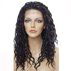 cheap Wigs & Hair Pieces-Synthetic Wig / Synthetic Lace Front Wig Women's Wavy Dark Brown Layered Haircut Synthetic Hair Anime / Party / Synthetic Dark Brown Wig Long Lace Front Black / Medium Auburn / Natural Hairline