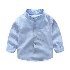 Χαμηλού Κόστους Μπλουζάκια για αγόρια-Παιδιά Αγορίστικα Ριγέ Μακρυμάνικο Πουκάμισο