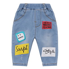 billige Jeans til drenge-Baby Drenge Trykt mønster Jeans