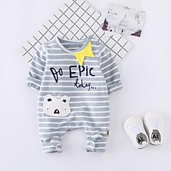 billige Babytøj-Baby Pige Stribet Kort Ærme En del