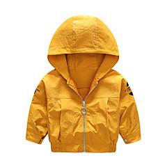 billige Jakker og frakker til drenge-Børn Drenge Ensfarvet Langærmet Trenchcoat