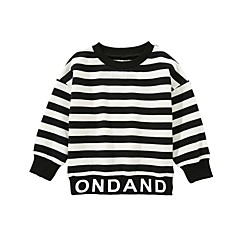 billige Hættetrøjer og sweatshirts til drenge-Børn / Baby Drenge Trykt mønster / Patchwork Langærmet Hættetrøje og sweatshirt