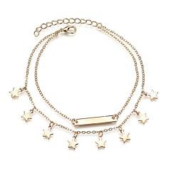 baratos Bijoux de Corps-Fio Único tornozeleira - Resina Estrela Na moda, Romântico, Doce Dourado Para Presente Para Noite Mulheres