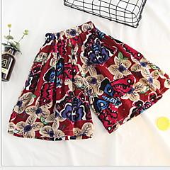 billige Bukser og leggings til piger-Børn Pige Trykt mønster / Patchwork Shorts