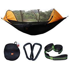 preiswerte Camping, Wandern & Trekking-Campinghängematte mit Moskitonetz Außen Regendicht, Atmungsaktivität Nylon für Wandern / Camping - 2 Personen Orange / Dunkelblau / Dunkelgrün