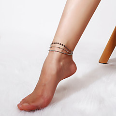 baratos Bijoux de Corps-Camadas tornozeleira - Estiloso, Simples, Na moda Dourado / Prata Para Presente Diário Mulheres