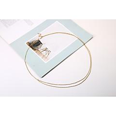 ieftine Bijuterii pentru corp-Lanț de Talie / Corp lanț / burtă lanț Ciucure, European, Strat dublu Pentru femei Auriu / Argintiu Bijuterii de corp Pentru Cadouri de Crăciun / Zilnic / Casual