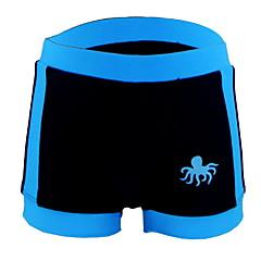 billige Badetøj til drenge-Børn Drenge Strand Ensfarvet Polyester Badetøj Blå 100