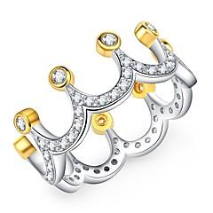 billige Motering-Dame Svart Matte Vintage Stil Ring - Fuskediamant Krone Koreansk, Mote, Elegant 6 / 7 / 8 Gull Til Gave / Ferie