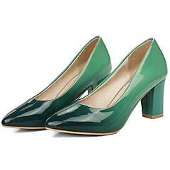 cheap Women's Heels-Women's Party Heels PU(Polyurethane) Winter Basic Pump Heels Chunky Heel Purple / Red / Green / Daily