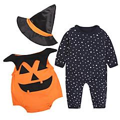 billige Sett med babyklær-Baby Pige Afslappet / Aktiv Fest / Ferie Trykt mønster Trykt mønster Langærmet Bomuld Tøjsæt