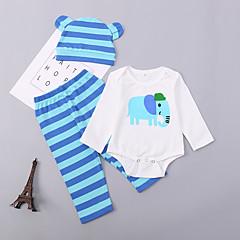 billige Sett med babyklær-Baby Pige Trykt mønster Langærmet Tøjsæt