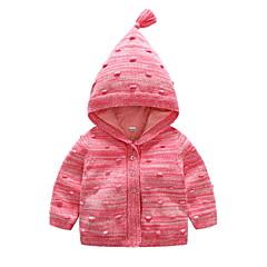 billige Sweaters og cardigans til babyer-Baby Pige Gade Ensfarvet Langærmet Bomuld Trøje og cardigan