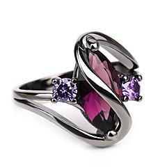 billige Motering-Dame Vintage Stil Elegant Ring - Strass Øyne, Ondt øye Barokk, Rock, Mote 5 / 6 / 7 / 8 / 9 Svart Til Maskerade Klubb