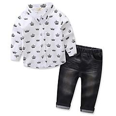billige Tøjsæt til drenge-Baby Drenge Trykt mønster Langærmet Tøjsæt