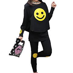 billige Tøjsæt til piger-Børn Pige Aktiv / Gade Sport Trykt mønster Patchwork / Trykt mønster Langærmet Bomuld Tøjsæt