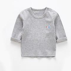 tanie Odzież dla chłopców-Brzdąc Dla chłopców Aktywny Jendolity kolor Długi rękaw Bawełna Bluzka