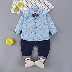 billige Tøjsæt til drenge-Børn Drenge Vintage / Basale Fest / I-byen-tøj Trykt mønster Langærmet Normal Bomuld / Akryl Tøjsæt Lyserød