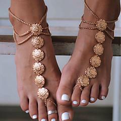 baratos Bijoux de Corps-Bijuteria para Pés - Flor Vintage Dourado / Prata Para Diário / Casual / Esportes / Mulheres