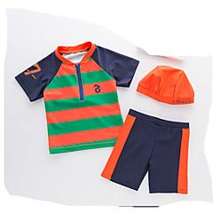 billige Badetøj til drenge-Børn Drenge Stribet Kort Ærme Badetøj