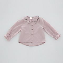 billige Babyoverdele-Baby Pige Ensfarvet Langærmet Skjorte