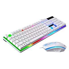 Χαμηλού Κόστους mouse keyboard combo-Cablu Πλήρες πληκτρολόγιο ποντικιού Δημιουργικό Λειτουργία με μπαταρία μηχανικό πληκτρολόγιο Gaming Mouse 1200 dpi 3 pcs
