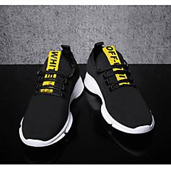 baratos Tênis de Corrida-Homens Tênis Borracha Caminhada / Corrida / Cooper Leve, Anti-Shake, Respirável Malha Respirável Branco / Amarelo / Vermelho