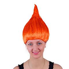 billige Kostymeparykk-Syntetiske parykker / Kostymeparykker Rett Blond Bobfrisyre Syntetisk hår 14 tommers Anime / Cosplay / Dame Rød / Blond Parykk Dame Mellemlængde Maskinprodusert Gul