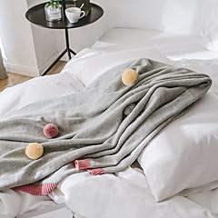 billiga Filtar och plädar-Super Soft, Reaktiv Tryck Enfärgad Cotton filtar