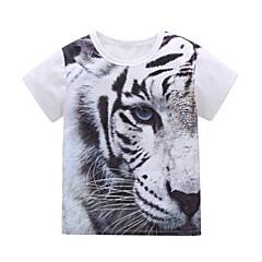 billige Jenteklær-Barn / Baby Jente Tiger Trykt mønster Kortermet T-skjorte
