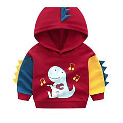 billige Hættetrøjer og sweatshirts til drenge-Børn Drenge Basale Ensfarvet / Trykt mønster Langærmet Bomuld Hættetrøje og sweatshirt