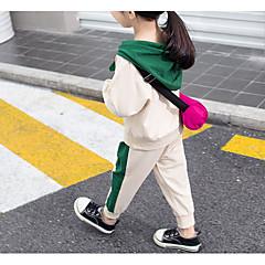 billige Tøjsæt til piger-Børn Pige Farveblok Langærmet Tøjsæt