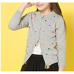 billige Sweaters og cardigans til piger-Børn Pige Prikker Langærmet Trøje og cardigan