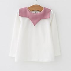 billige Babyoverdele-Baby Pige Farveblok Langærmet T-shirt