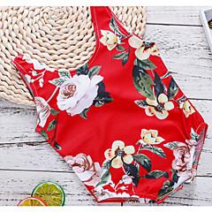 billige Badetøj til piger-Børn Pige Blomstret Uden ærmer Badetøj
