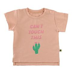 billige Babyoverdele-Baby Pige Aktiv Daglig Blomstret Kortærmet Normal Bomuld Skjorte Lyserød