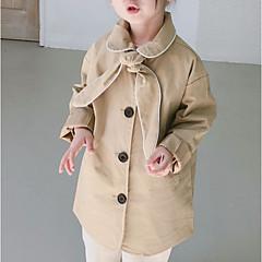 tanie Odzież dla dziewczynek-Dzieci Dla dziewczynek Jendolity kolor Długi rękaw Trencz