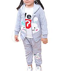billige Sett med babyklær-Baby Pige Basale Daglig Ensfarvet Langærmet Normal Polyester Tøjsæt Rød 100