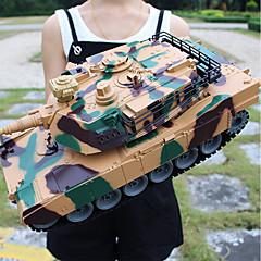 billiga Drönare och radiostyrda enheter-356 Tank 1:18 Radiostyrd bil 2 km/h 2.4G Färdig att köra Fjärrkontroll bil / 1 x Fjärrkontroll Simulering / Föräldra-Barninteraktion