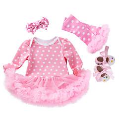 billige Babytøj-Baby Pige Prikker Langærmet En del