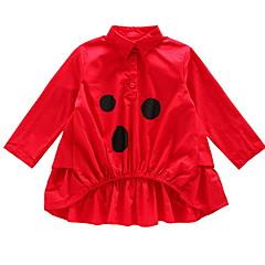 billige Sweaters og cardigans til piger-Børn Pige Basale Ensfarvet / Prikker Langærmet Trøje og cardigan
