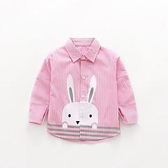 tanie Odzież dla dziewczynek-Dzieci Dla dziewczynek Zabytkowe Jendolity kolor Długi rękaw Koszula