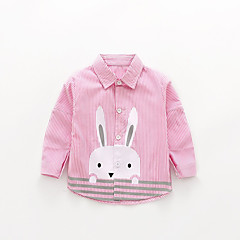 baratos Roupas de Meninas-Infantil Para Meninas Sólido Manga Longa Camisa