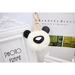 baratos Chaveiros-Panda Chaveiro Branco / Verde / Rosa claro Animal Pêlo de Coelho, Liga Doce Para Diário / Escola